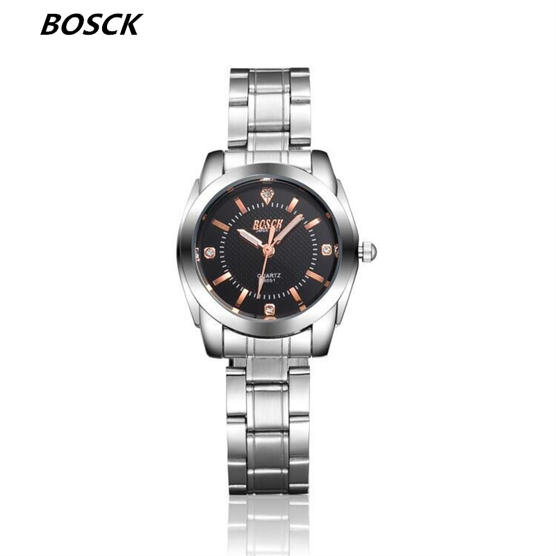 bosck Silver Women Watches Luxury High Quality Water Resistant Montre Femme Stainless Steel 2016 Dress Woman Wrist Watches 8051<br><br>Aliexpress