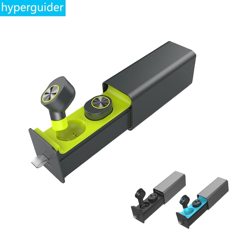 hyperguider TWS Earbuds mini Bluetooth 4.2 True Wireless Stereo HIFI Clear Bass for Meizu Xiaomi iPhone<br>