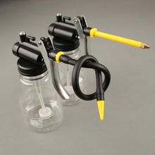 Buy Hot!250cc Transparent High Pressure Pump Oiler Lubrication Oil Can Plastic Machine Oiler Grease 245mm Length flex Gun