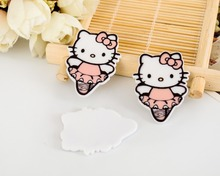 KT cat kawaii Dancing Hello Kitty Figurine home  decoration crafts flat back planar resin DIY phone hair Bow accessories