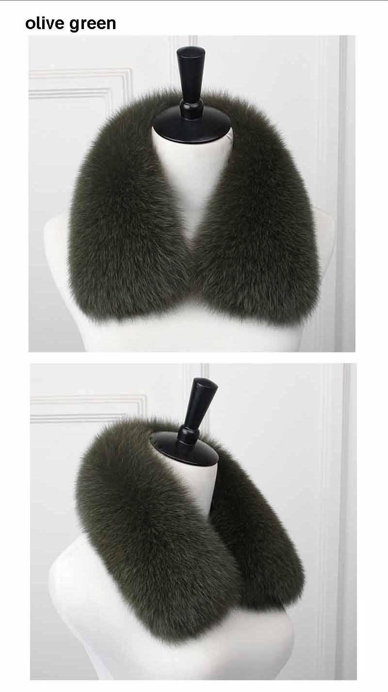 fox fur collar men olive green 1