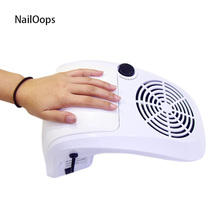 40W High Power Salon Nail Art Tool Suction Nail Dust Collector Machine Vacuum Cleaner Strong Fan Hand-rest UV Gel Nail Dryer Tip(China)