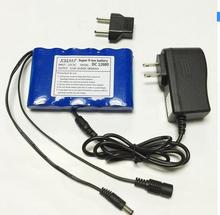 Portable Super Rechargeable Lithium Ion battery pack capacity DC 12 V 6800 Mah CCTV Cam Monitor free shipping(China)