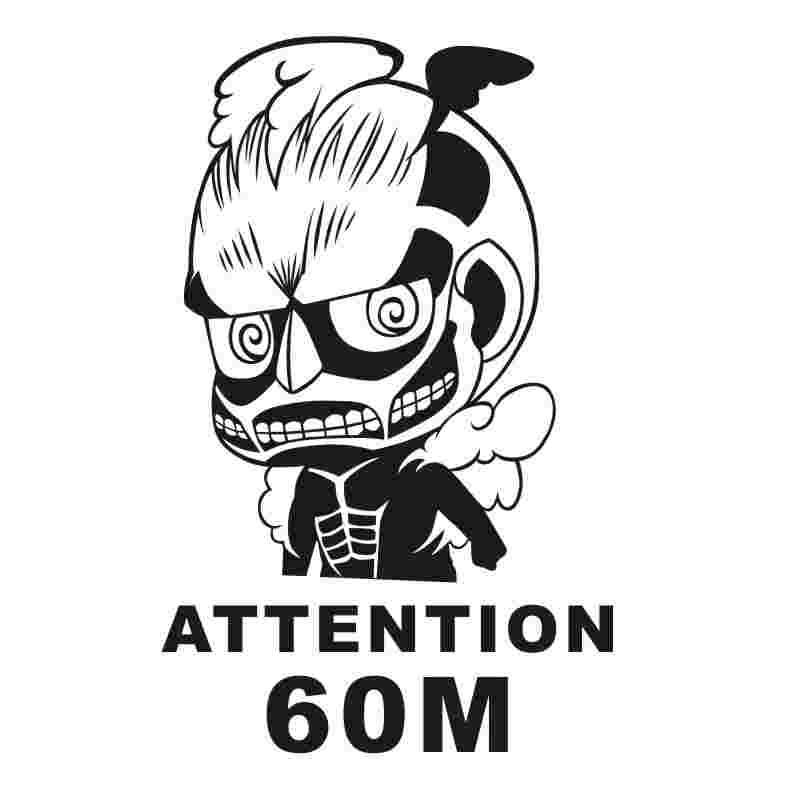 Pegatina Attack on Titan Sticker Anime Cartoon Car Decal Sticker Vinyl Wall Stickers Decor Home Decoration