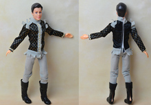 Doll + Clothing Set + Shoes / with 12 joint Flexible / with Gray Suit Pant Formal Dress /for Barbie Boy Bridegroom Ken Doll 2015