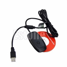 hot PC Wireless Gaming USB Receiver Adapter For Xbox 360 Games Controller Black White(China)