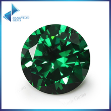 100pcs 0.8~10mm 5A Round Cut CZ Stone Brilliant Green Cubic Zirconia Synthetic Gems stone(China)