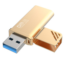 DM PD068 golden color 16GB 32GB 64GB 128GB 256GB USB Flash Drives Metal 3.0 High-speed write 10MB-60MB - digital Store store