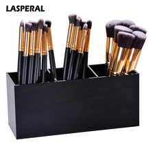 1PC Acrylic Makeup Organizer Brush Mascara Lipstick Stand Case Jewelry Box Cosmetic Holder Storage Box 3 Lattices(China)