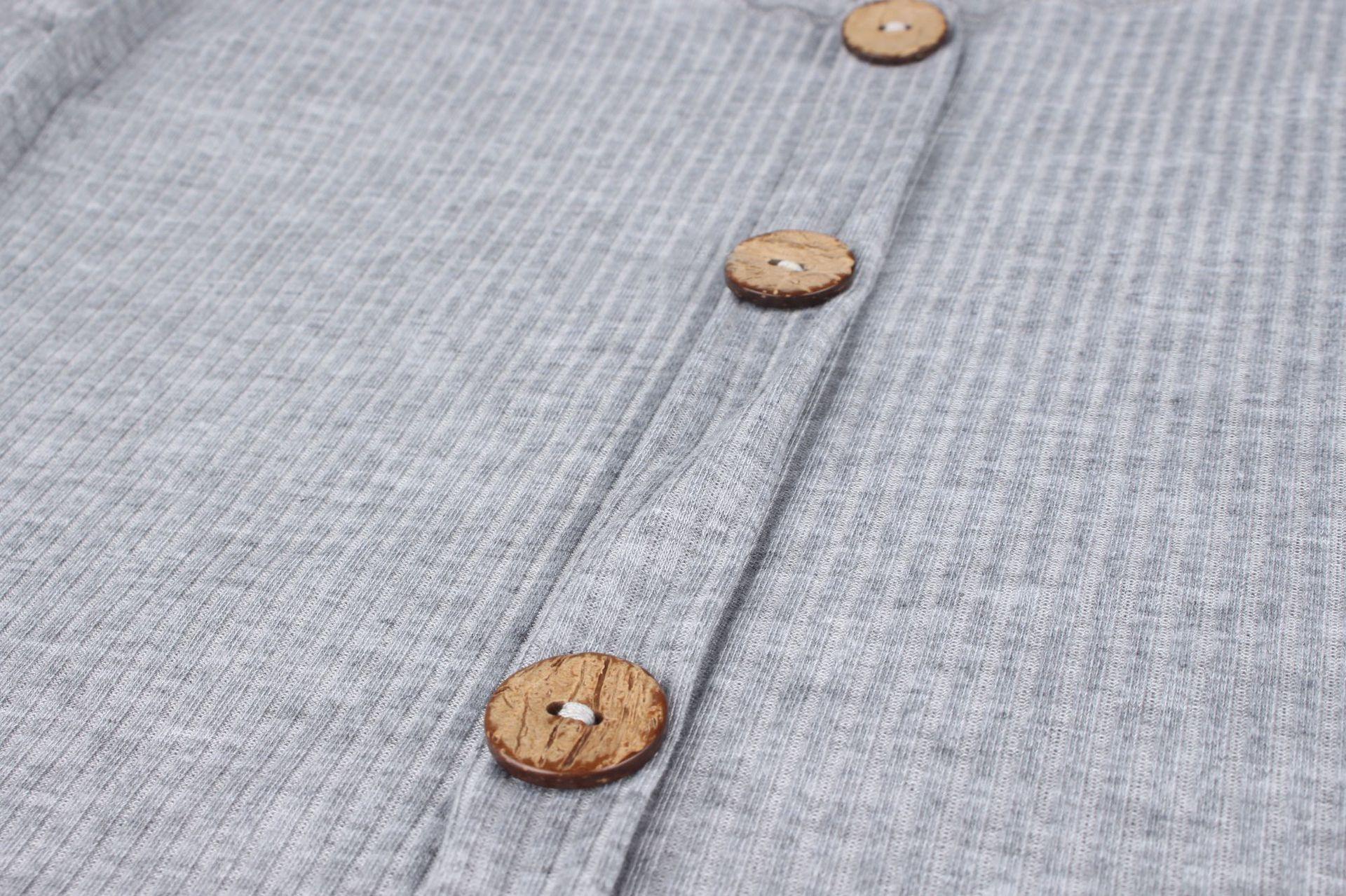 Crop Top Women Long Sleeve Button O-neck Spring Summer T Shirt Women Sexy Camiseta Mujer Women Tshirt Tee Shirt Femme 2019 Tops224