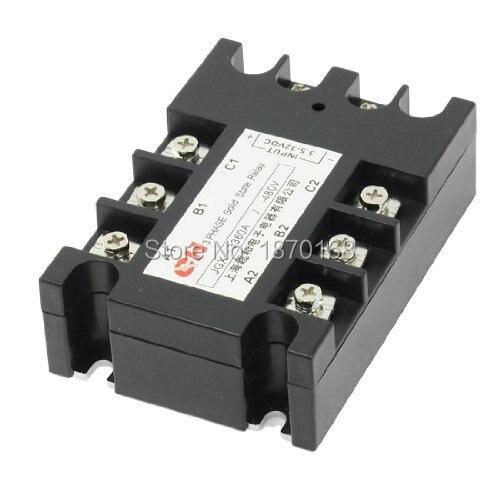 Jgx-3380 3.5 - 32VDC masukan 480VAC 80A keluaran DC / AC tiga fase SSR Solid State Relay<br>