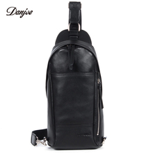 DANJUE Men Bag Genuine Leather Men's Messenger Bag Brand Daypack Real Leather Shoulder Bags Casual Men Travel Chest Bag