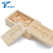 Personalized Wooden USB Flash Drive 4gb 8gb 16gb 32gb Custom logo on Wood Pendrive and Box (Over 5PCS free custom logo)