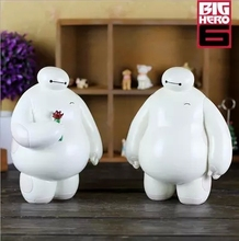 NEW! Big Hero 6 Action Figure Baymax Ceramic Money Box 1PC White Piggy Bank Creative Crafts Gifts(China)