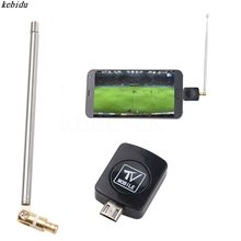 Mini Micro USB DVB-T tuner TV receiver Dongle/Antenna DVB T HD Digital Mobile TV HDTV Satellite Receiver for Android Phone(China)