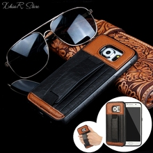 For Samsung S6 Football Turtle Shell Pattern Leather Case Wallet Card Holder Cover For Galaxy S6 Edge With Elastic Hand Strap