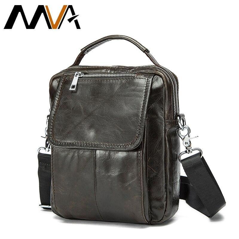 MVA Genuine Leather Men Bag Mini Shoulder Crossbody Bags Men Messenger Bags Mens Leather Bag Casual Small Shoulder Handbags<br>