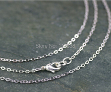 Free ship 20pcs/lot 3x2mm Antique Bronze/Silver/Gold Plated Cable Chains Link Necklace Finished 70cm copper long chains