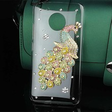 3d Peacock Crystal Cell Phone Case for Moto G5 G5 Plus Bling Cover for Moto G4 Play Z Play Diamond Rhinestone Mobile Phone Cases