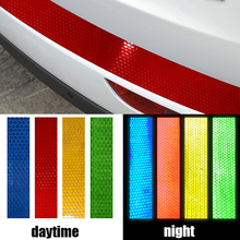 Auto Car Rear Bumper Sill Protector Plate Reflective Sticker For Toyota Corolla Vios Prius Levin Corolla EX Yaris L Car Styling(China)