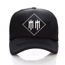 Men'S Fashion Funny Official Marilyn Manson Red Lips Design cap Novelty Custom Printed Men women snapback hat(China)