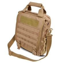 "Tactical black hawk outdoor travel 14"" laptop IPAD cordura crossbody shoulder backpack molle  sustainment bag army durable"
