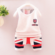 New Arrival Summer Baby Boys Clothes British Flag Printed T-shirt + Pants Baby Suit For Baby Kids Boys Clothing Sets Christmas