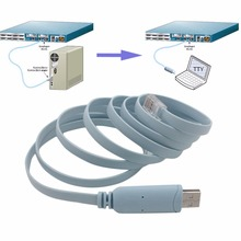1.8M Length Cable USB TO RJ45 Console Serial Console Cable Express Network Routers Cable For Cisco Router(China)