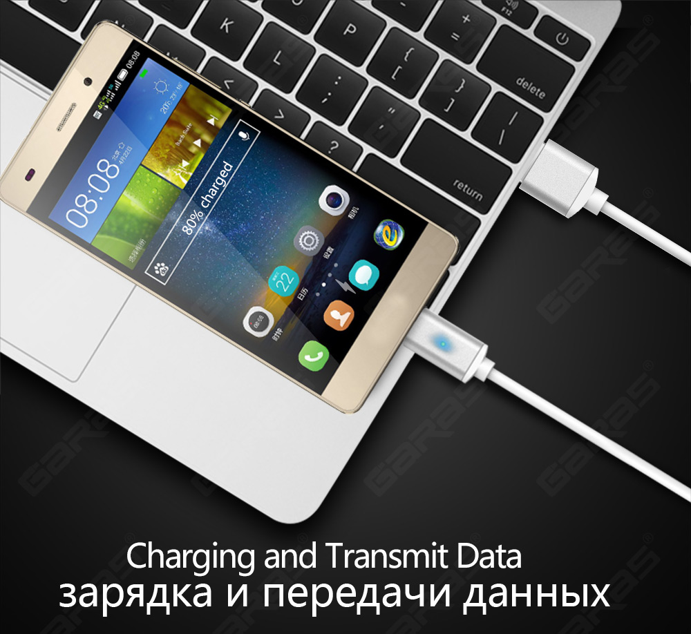 GARAS USB Type C/IOS/Micro USB 3IN1 Magnetic Cable Type-C USB-C Fast Charger Adapter Magnet Cable For IPhone Mobile Phone Cables 4