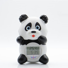 Multifunction panda baby infant bath thermometer 3 colors backlight LCD plastic cartoon toy