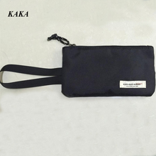 KAKA Hot Women Clutch Bag Simple Oxford Wallets Fashion Wristlet Change Phone Purse Handbag Black Brand Bags X770