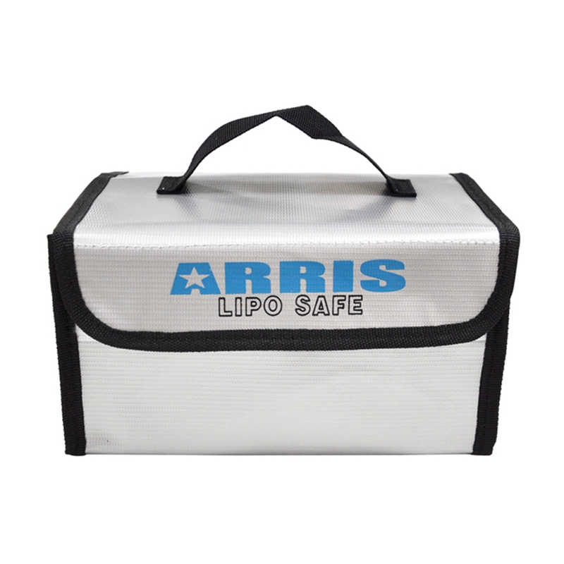 Newest 215*155*115mm ARRIS Fire Retardant LiPo Battery Portable Safety Bag RC Toys Box Handbag Case For RC Model Toys(China)