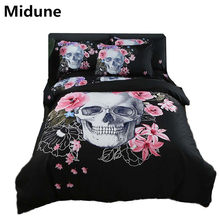 Hot New 3D Digital Printed Football Bedding Sets Duvet Cover+Pillowcase Bedspread Queen King size EU/CN/US skull customized 3pcs(China)