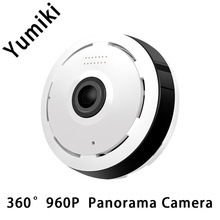 Yumiki 360 Degree VR Panorama Camera HD 960P Wireless WIFI IP Camera Home Security Surveillance System Video Camera Wi-fi Webcam(China)
