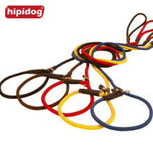 Hipidog Nylon Rope P Chock Obedience Dog Pet Slip Training P-leash Leads for Dog Pet Training Walking Collar Lead(China)