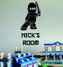 Lego Superhero Ninjago Personalised Children's Bedroom Decor Vinyl Wall Sticker - LOVE House Stickers Store store