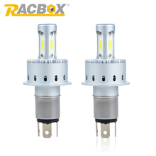 RACBOX 90W Super Bright High Power H4 Car LED Headlight COB Bulb Fog Lamp H7 H8 H9 H11 HB3 9005 HB4 9006 6000K Light For Auto