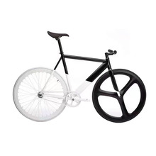 Fixed Gear Bike Track Bike frame with Magnesium Alloy WHEEL 50mm RIM road bicycle single speed Urban bike(China)