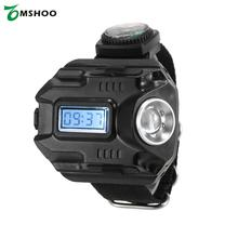 2-in-1 LED Watch Flashlight Wristlight Rechargeable Lamp Wrist Lighting Outdoor Torch for Camping Hiking Traveling