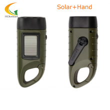 rechargeable batteries Hand Crank led flashlights solar flashlight camping light high quality portable work light