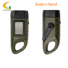 rechargeable batteries Hand Crank led flashlights solar flashlight camping light high quality portable work light(China)
