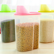 1.8/2.5L Kitchen Storage Organizer Grain Storage Container Rice Holder Box Cereal Bean Container Sealed Box with Measuring Cup