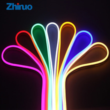 Zhinuo 12V RGB Led Strip Outdoor Neon Flexible Waterproof Outdoors Light Strip For Decorate Square Garden Highway Building(China)
