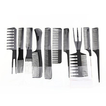 Comb 10 Piece High Quality Hair Styling Comb Set Professional Black Brush Barbers X9063 5Up(China)