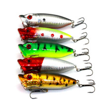 5pcs Fishing Lures Popper Lure 6.5cm 13g Fishing Bait 6# High Carbon Steel Hook Fishing Tackle