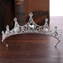2017 New Gorgeous Sparkling Clear Crystal Big Wedding Tiaras Hairband Crystal Bridal Crowns For Brides Hair Jewelry Headpiece