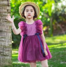 New Summer Children Baby Fairy Chiffon Puff Sleeve Dresses, Girls Princess Bow Ribbon Clothes 5 pcs/lot, Wholesale