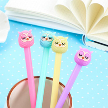 T48 3X Cute Kawaii Lovely Jelly Owl Gel Pen Writing Signing Pen Student Stationery School Office Supply Kids Gift