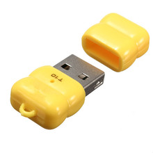 Hot sell Yellow 480 Mbps Mini Single USB 2.0 Micro TF TF Memory Card Reader Adapter T10 For Linux For Windows 7 8 For Mac OS(China)