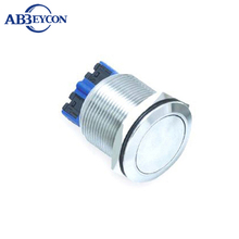 5pcs/Lot ABBEYCON Short housing stainless steel IP67 push button flat switch 22mm sealed push button switch(China)